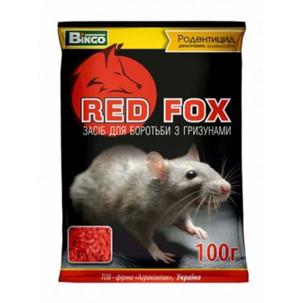 Засіб для боротьби з мишами та пацюками Red Fox, 100 г