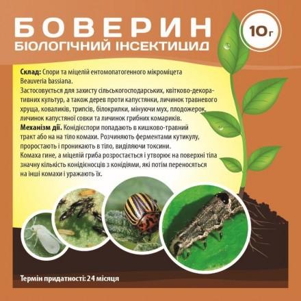 Біологічний інсектицид Боверин, 10 г