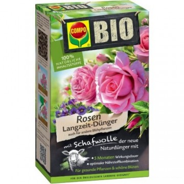 Добриво тривалої дії для троянд, 2 кг, Compo Bio