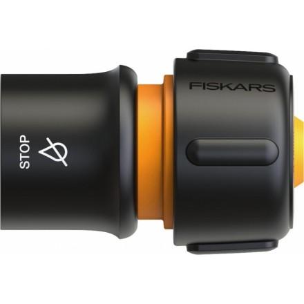 """Конектор Fiskars для шланга SOL 13-15 мм (1/2-5/8"""") з автостопом LB30, Watering"""